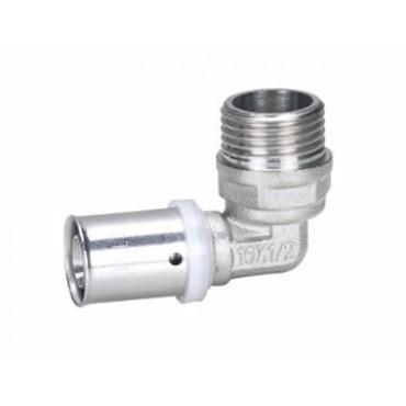 """Alupex pressnurk 20 mm x 3/4"""" väliskeere"""