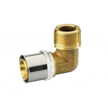 Alupex pressnurk 20 mm 3/4 väliskeere