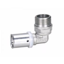 """Alupex pressnurk 16 mm x 3/4"""" väliskeere"""
